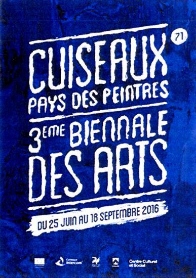 Affiche 3eme biennale cuiseaux pays des peintres
